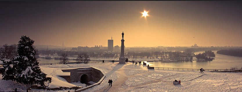 Kalemegdan in the snow